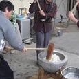 日本の文化「お餅つき」